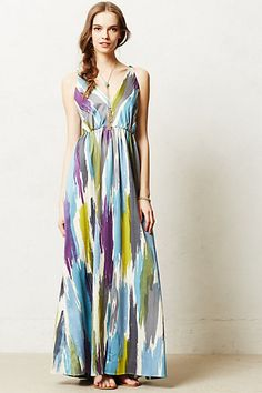 Brushstrokes Maxi Dress - Anthropologie
