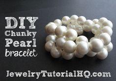 DIY Chanel Inspired Chunky Pearl Bracelet {Video}