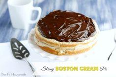 Skinny Boston Cream Pie - Powered by @ultimaterecipe