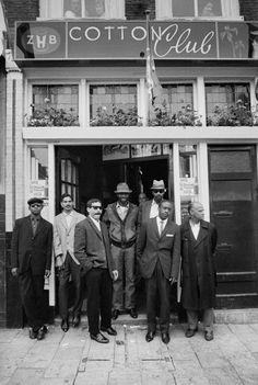 """1961 - Jazz Club """"Cotton Club"""" on the Nieuwmarkt in Amsterdfam. © Ed van der Elsken #amsterdam #jazzmusic #1961"""