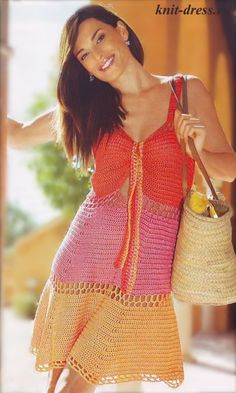 Sundress free crochet graph pattern