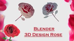 Blender 3D Design - Blooming Rose Flower Thing Created In Blender & 123D Design. Video Tutorial: How I Did It ! Hope It's Helpfull & Please Subscribe Link Th...