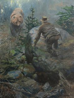 """""""Heart-Stopping,"""" Acrylic on Panel Native American Art, American History, American Women, American Indians, Western Wild, Military Drawings, Hunting Art, Cool Paintings, Bear Paintings"""