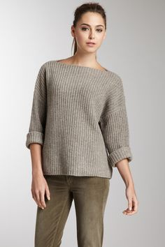 Chunky Boatneck Sweater