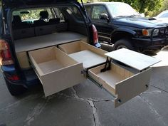 Adam's 2005 Modular Drawer System - Initial Planning & Build thread - Ex. - Adam's 2005 Modular Drawer System – Initial Planning & Build thread – Expedition Porta - Suv Camping, Camping Tips, Truck Bed Camper, Camper Life, 4x4 Toyota, Astuces Camping-car, Truck Living, Truck Bed Storage, Camper Kitchen