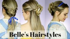 All the Beauty and the Beast Hairstyles! - YouTube