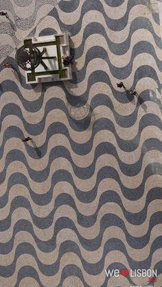 Portuguese cobblestones at Belem district in Lisbon - Lisbon's cobblestone pavements are authentic works of art.