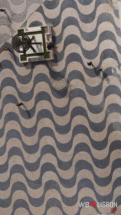 Portuguese cobblestones at Belem district in Lisbon - Lisbon's cobblestone pavements are authentic works of art. Braga Portugal, Visit Portugal, Portugal Travel, Pavement Design, Crazy Paving, Paving Pattern, Belem, Colored Highlights, Floor Patterns