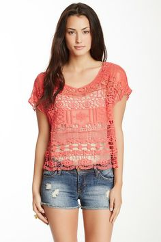 Crochet Crop Shirt by Monoreno on @HauteLook