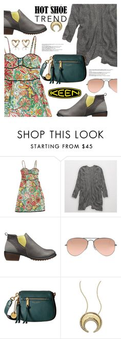 """""""So Fresh and So Keen: Contest Entry"""" by stacey-lynne ❤ liked on Polyvore featuring Nanette Lepore, Aerie, Keen Footwear, Ray-Ban, Marc Jacobs, House of Harlow 1960 and Balmain"""