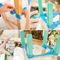 DIY Basics: 3 Ways to Make Color-Dipped Bar Stools | Brit + Co