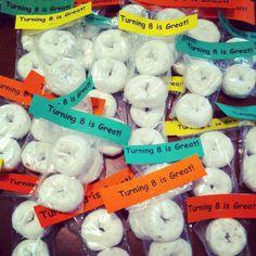 Birthday treats for School-turning 8 Classroom Birthday Treats, Classroom Snacks, Birthday Party Treats, 6th Birthday Parties, Birthday Favors, School Parties, 8th Birthday, Birthday Treats For School, Birthday Ideas