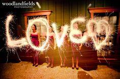 Wedding sparkler magic!