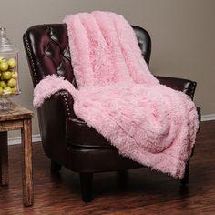 Chanasya Super Soft Long Shaggy Chic Fuzzy Fur Faux Fur Warm Elegant Cozy With F