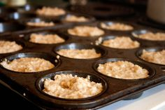 Luv my steel cut oats, but don't always have the time to make them in the morning. Going to try this muffin-tin freezing idea!!!