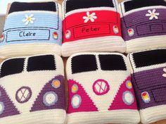 VW Campervan Crochet Campervan Cushion / Pillow vdub camper splitty