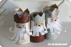 Three Wisemen - paper tube Christmas craft for kids