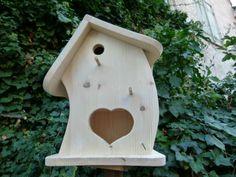 Vogelvilla, Vogelfutterhaus, unbemalt, V 1.1 von Vogel-Tom auf DaWanda.com