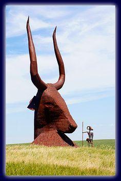 Montrose, SD  ~~ Porter Sculpture Park  along I-90.  Wayne Porter Creates Amazing Large Scale Sculpture in America's Heartland.