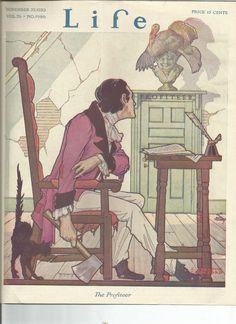 LIFE MAGAZINE (COVER ONLY) NOV 25, 1920 THANKSGIVING  8.5X11