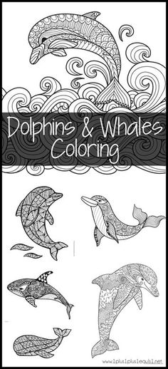 Dolphin and Whale Coloring Pages {free}