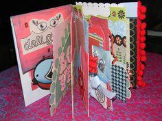 Happy Bird Memory Journal - Mixed Media Altered Scrapbook #nicolespaperie