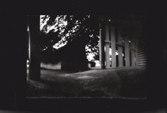 Pinhole photography - taken with a coke can camera on back and white photography paper