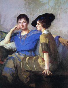 Edmund C. Tarbell (American 1862–1938) [Impressionism, Portrait, The Ten] The Sisters, 1921. Gibbes Museum of Art.