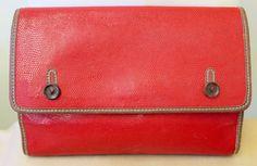 Valentino Mario Valentino Vintage V Real Leather Snakeskin Purse Large Clutch
