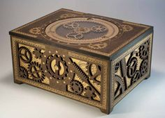 Steampunk Storage Box  Features Working Planetary by DapperDevil, $99.99