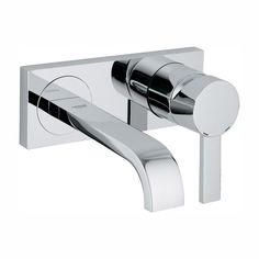 GROHE Allure 1.2 GPM Single-Handle Wall Mount Bathroom Faucet in StarLight Chrome-1930000A - The Home Depot