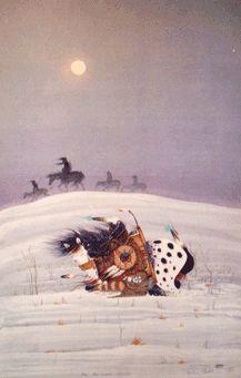 Rance Hood (Comanche) painting