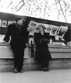 Robert Doisneau // Paris, Pierre Buron and his wife , 1950 - 1959 Robert Doisneau, Henri Cartier Bresson, Photography Lessons, Street Photography, Black White Photos, Black And White, Pont Paris, Brassai, Photo Portrait