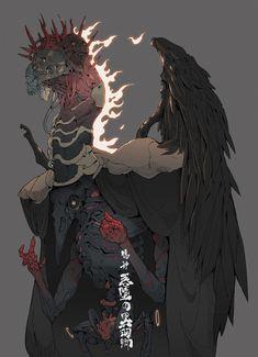 False God : Lord Raven, Ching Yeh on ArtStation at https://www.artstation.com/artwork/zlnNL