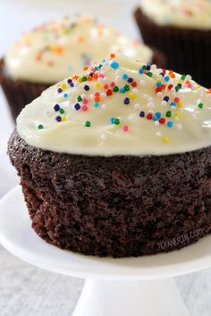 These 100% whole wheat chocolate cupcakes are made healthier but nobody will…