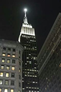 Moon Over Empire....taken by Joseph Tenaglia Jr of JOSEPH DESIGN LLC