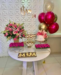 Diy Baby Shower Decorations, Birthday Balloon Decorations, Table Decorations, Fruit Birthday, Birthday Party Tables, Graduation Party Decor, Diy Party, Dessert Table, Barbie