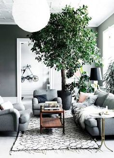 Scandinavian design is one of the most beautiful and elegant ways to decorate your home, and we absolutely love it. This is domino's ultimate guide to decorating your home with a Scandinavian design inspired interior. Cozy Grey Living Room, Living Room Green, Home And Living, Living Room Decor, Living Spaces, Living Rooms, Modern Living, Grey Room, Living Area