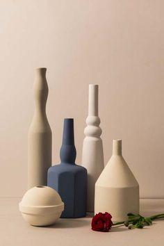 """Another Blue"" Le Morandine, design Sonia Pedrazzini Ceramic Tableware, Ceramic Cups, Trends 2016, Minimal Photo, Wine Table, Visual Aesthetics, Minimalist House Design, Geometric Logo, Prop Styling"