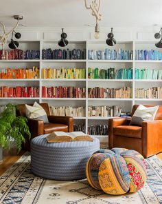 Bookshelf by color