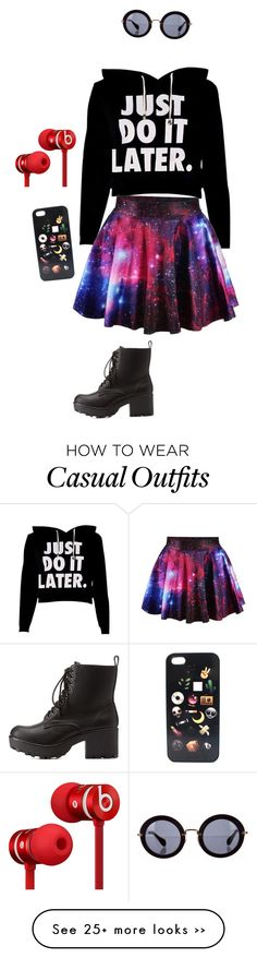 """""""Casual"""" by tjsaint on Polyvore featuring Charlotte Russe, Miu Miu and Beats by Dr. Dre"""