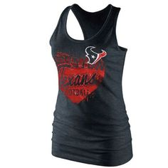 Houston Texans tank top in blue