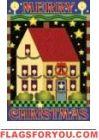 Merry Christmas Salt Box House Flag - 6 left