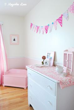 Kids Bedroom Bunting different way to hang bunting | baby's room | pinterest | buntings