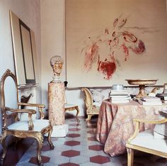 Artist In Residence, No. 13 Cy Twombly, Rome, 1966 'I think space is for paintings, for looking at paintings. Paintings 'hold' in that kind of rectilinear space, which contains the energy of the works…' Photographed by Horst P. Horst for Vogue.