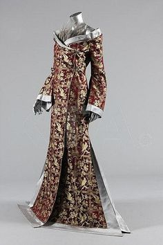 Alexander McQueen for Givenchy crêpe de chine jump suit and brocaded kimono, Autumn-Winter, 1997 haute couture collection, labelled Givenchy haute couture, no 28,