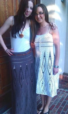 Crochet vestido adolescente