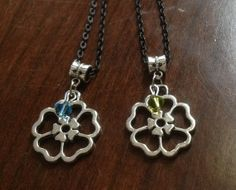 Flower Birthstone Necklace by StylinScarves on Etsy, $15.00