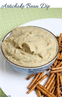 Artichoke Bean Dip with Sweet Onion - dip some veggies for an ideal Phase 3 snack.