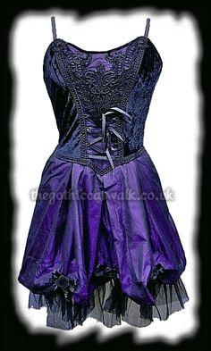 purple gothic velvet dress Black & Purple Velvet & Silk Gothic Dress from The Gothic Catwalk A
